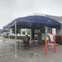 蔻启 雨棚 无 1  固定式雨棚 帐篷 蓝色 5*6*3M