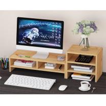臻远 电脑桌增高架+置物架 ZY-KLP-ZGJ04 增高架:W500*D195*H133mm (木纹色)
