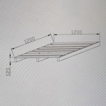 震怡 定制大托盘 ZY-95828 W1200*D1200*H120mm (灰白)