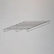 震怡 定制小托盘 ZY-95829 W800*D1000*H120mm (灰白)