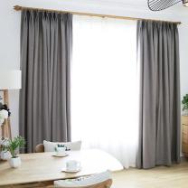 裕源织染 遮光窗帘 2.4*2.4m 含罗马杆套