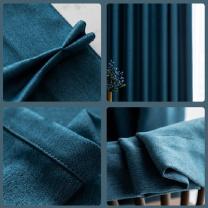 罗莱 LUOLAI 窗帘 高2.40米双开 3.30-3.60米 (蓝色)