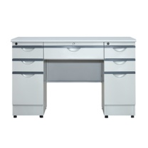 京鑫辉 钢木办公桌 XH-GM1407 W1400*D700*H760 (灰白色) 5张起订