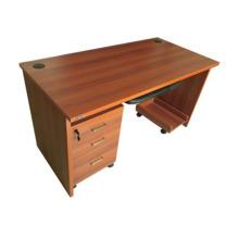 顺发 SF 办公桌 SF-BGZ-002 W1400*D700*H750mm (YF-0487英格兰红樱桃) 含键盘架、主机托和推柜