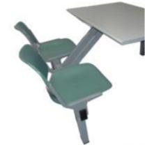 维亿 正面双人餐台椅 W1200*D800*H760