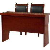 臻远 二抽条桌 ZY-KLP-G410 H750*W1200*D400 (红胡桃色) 35kg