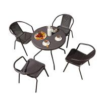 臻远 户外藤制一桌四椅 ZY-PVC-D80 桌子:直径800*H730mm