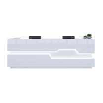 臻远 简约现代烤漆前台公司接待台柜台桌 ZY-KLP-QT16 W1600*D600*H1050 (白色)
