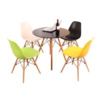 臻远 实木北欧简约洽谈桌椅 ZY-YMS-01 桌子直径:90CM  仅供石家庄
