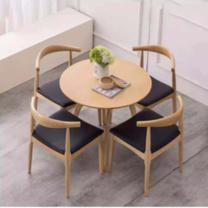 臻远 一桌三椅洽谈桌椅 ZY-KLP-ZY13 桌子直径90CM,高75CM,椅子背高78CM,坐高45CM,底长45CM,深52CM (图片色) 仅供上海