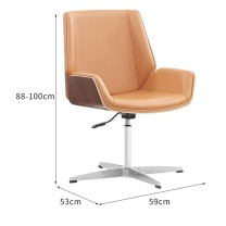臻远 职员椅 ZY-KLP-G374 H880*W590*D530 (棕色) 15kg