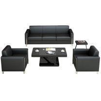 臻远 沙发组合1+1+3+茶几(西皮) ZY-KLP-SF9044  重量: 150KG