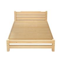洛克菲勒 实木松木床1.5米 离地30cm高 W1500*D2000 (原木色) 不带抽屉