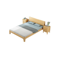 臻远 清漆款单人床+床垫 ZY-KLP-M7228 W1200*D2000*H300  (不带柜)