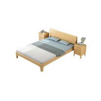 臻远 清漆款单人床+床垫 ZY-KLP-M7229 W1500*D2000*H300  (不带柜)
