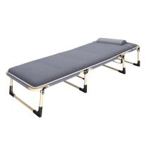 三极户外 圆管折叠床单人休闲床加绒棉垫 TP1020 193*63*30cm (银灰色)