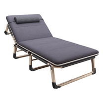 三极户外 加棉垫方管折叠床 TP1022 193*68*30cm (银灰色)