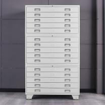 中伟 钢制铁皮柜1号地图柜底图柜文件柜工程图纸柜收纳柜整套三节  DC