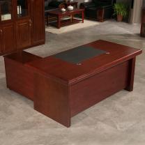中伟 办公家具老板桌大班台经理桌主管桌办公桌含侧柜  DC