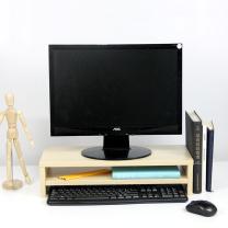 倍方 电脑显示器桌 电脑支架 德国枫木双层 电脑液晶显示器增高架 置物架底座 显示器支架 键盘收纳架  DC