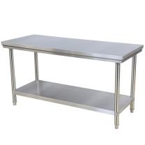 花语奇萌 后厨操作台 双层 加厚不锈钢