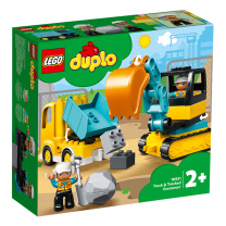 乐高(LEGO)积木 得宝10931 翻斗车和挖掘车套装2岁+大颗粒早教儿童玩具 男孩女孩 生日礼物6月上新