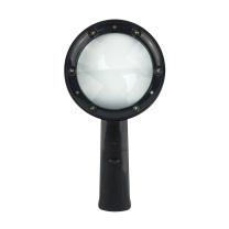 安赛瑞 手持式LED放大镜 实验室黑色带灯扩大镜光源放大镜 601027 180×95×20mm