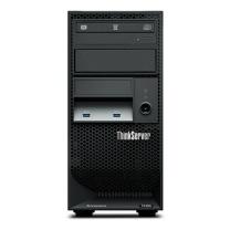 联想 lenovo 服务器 ThinkServer TS250 1*E3-1225v6 2*4G DDR4 4x3.5盘位 1*1T 7.2K SATA (黑色) 板载RAID121i 0/1/10/5 1*250W黄金 DVD 三年上门(BAT)