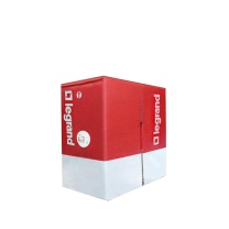 TCL网线(箱) PC101004,超五类4对非屏蔽双绞线电缆(305米),咖啡色,PVC