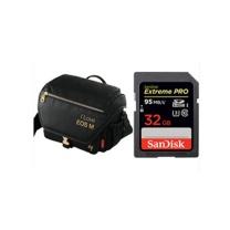 佳能 Canon 相机包 M3 (黑色) EOS M定制黑金相机背包 赠32G SD卡