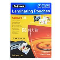 范罗士 Fellowes 塑封膜 Laminating film 53074 A4 125mic(12.5丝)  100张/包