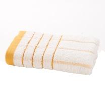 洁丽雅 grace 淡雅条纹纯棉毛巾 6949 76*34cm 90g 单条装  120条/箱 袋装 颜色随机