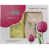 洁丽雅 grace 毛巾两件套 6223 78*34cm 95g 2条装  40盒/箱 盒装 颜色随机
