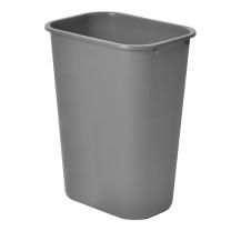 白云清洁 方形垃圾桶 AF07007 38.6*28*50cm / 35L (灰色) 20个/箱