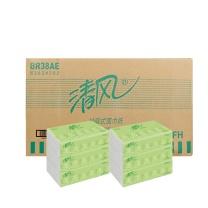 清风 Breeze 袋装面巾纸双层 BR38AE  200抽/包 3包/提 16提/箱