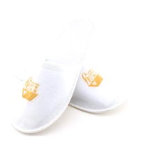 国产 一次性拉毛绒拖鞋 均码 (白色) 40双/箱