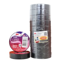 3M PVC电气绝缘胶布 1600# 18mm*20m (黑色) (10卷起订)