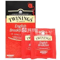 川宁 TWININGS 英国早餐红茶 S25 2g/包  25包/盒 12盒/箱 12盒/箱
