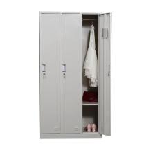 华宇天地 三门更衣柜 H1800*W900*D420mm (灰白色) 江浙沪含运,其他地区运费另询。