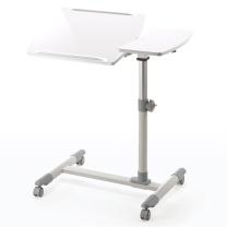 山业 SANWA 多功能升降电脑桌 100-DESK040W W705*D400*H585-850 (白色) 含运不含安装