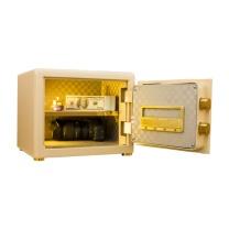 京鑫辉 全钢精锐指纹系列30豪华型保管箱 H330*W420*D300 (棕皮纹) 北京五环内含运,其余地区运费另询。