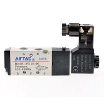 亚德客 AIRTAC 亚德客AirTAC 单控5通电磁阀,AC220V,4V110-06-A 4V110-06-A 4V110-06-A