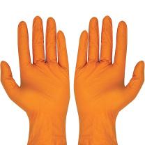 爱马斯 GWON44100 一次性加厚型丁腈手套 M码 100只/盒 (计价单位:盒) 橙色