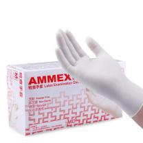 爱马斯(AMMEX) TLFCVMD44100 M码一次性乳胶检查手套 100只/盒(计价单位:盒)