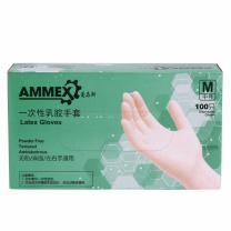 爱马斯(AMMEX) TLFC46100 L 一次性乳胶无粉手套 100只/盒(计价单位:盒)