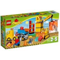 乐高 LEGO 乐高(LEGO)积木 得宝DUPLO大型建筑工地2-5岁 10813 大型建筑工地