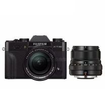 富士(FUJIFILM) X-T30/XT30 微单电数码相机/无反照像机 XF18-55&23/f2.0 双头套装 银色 XF18-55&23/f2.0 双头套装