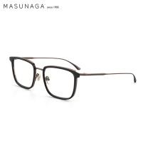 masunaga MASUNAGA增永眼镜男女手工复古全框眼镜架配镜近视光学镜架EMPIRE I #19 黑框/玳瑁棕色 #19 黑框棕色
