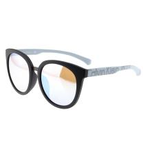 Calvin Klein CK 卡尔文·克莱恩(Calvin Klein)太阳眼镜男女款潮流圆框墨镜车用驾驶镜板材太阳镜 CKJ789SAF 002 57mm黑框银灰腿