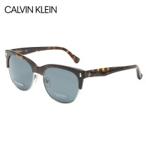 Calvin Klein CK 卡文克莱(Calvin Klein)太阳镜 男女款半框板材玳瑁色镜框灰色镜片偏光墨镜 CK4307SPA 214 56mm